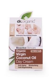 Dr. Organic Nappali Arcáp. Krém Bio Szűz Kókuszolajjal 50 ml