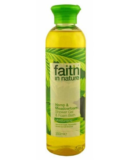 Faith In Nature tus- és habfürdő kender 250 ml