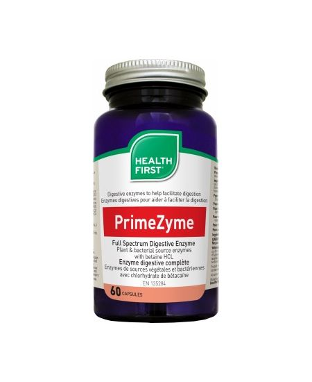 Health First PrimeZyme Dig. Enzyme Caps. 60 db