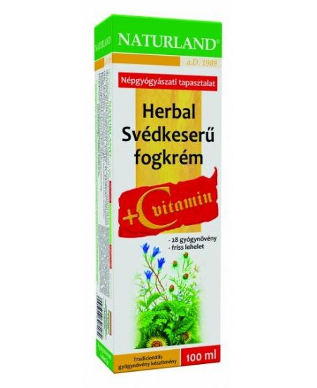 Naturland Herbal Svédkeserű Fogkrém 100 ml