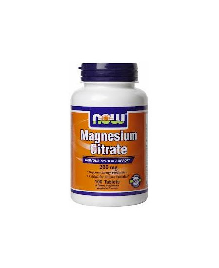 Now Magnesium Citrate 200 mg 100 db