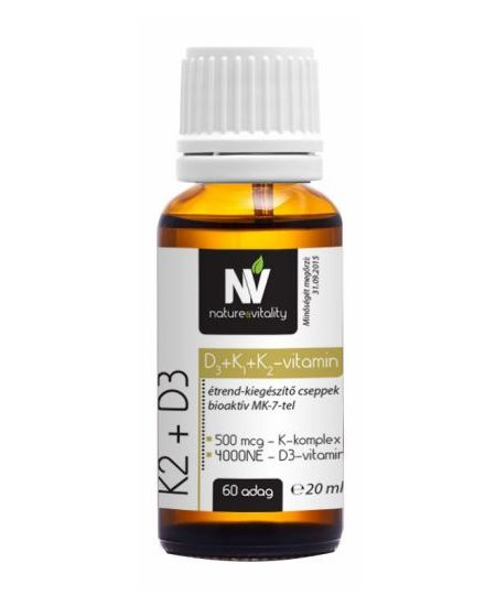 Nature&Vitality K2 + D3 20 ml