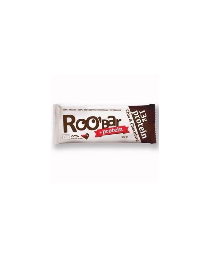 Roobar 100 RAW bio protein szelet chia mag-nyers kakakó 60 g